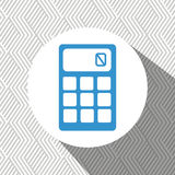 Calculator isolated design. Illustration eps10 graphic Royalty Free Stock Images