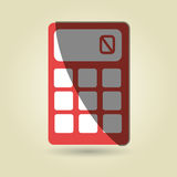 Calculator isolated design. Illustration eps10 graphic Stock Images