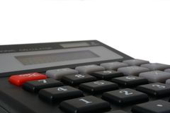 Calculator. An isolated photo of a calculator Stock Images