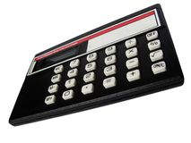 Calculator, isolated, to consider. It is the pocket calculator isolated on a white background Royalty Free Stock Photography