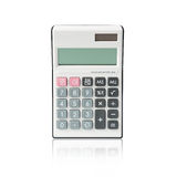 Calculator. Isolated on a white background with blank screen Royalty Free Stock Photos