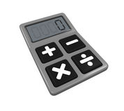 Calculator Isolated. On white background. 3D render Royalty Free Stock Photos