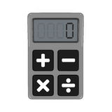 Calculator Isolated. On white background. 3D render Royalty Free Stock Photography
