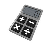 Calculator Isolated. On white background. 3D render Stock Photo