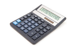 Calculator isolated on white Royalty Free Stock Photo