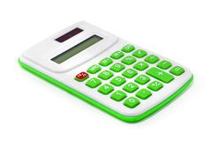 Calculator isolated on white royalty free stock images