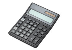 Calculator isolated on white. With clipping path Royalty Free Stock Photos