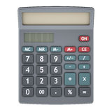 Calculator isolated on white Stock Photos