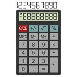 Calculator. Template for math programs and applications. Stock Image