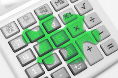 Calculator and Jigsaw Puzzle Stock Images