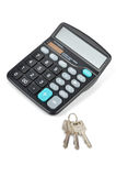 Calculator and key Stock Images