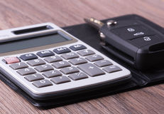Calculator and Key Royalty Free Stock Images
