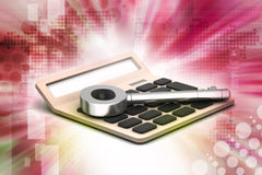 Calculator with key Royalty Free Stock Photography