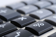Calculator keyboard. Closeup image of calculator keyboard Royalty Free Stock Images