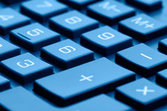 Calculator keyboard Royalty Free Stock Image
