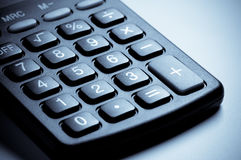 Calculator keyboard close-up. Royalty Free Stock Images