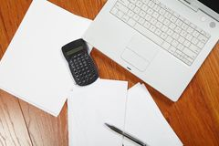 Calculator and keyboard Stock Photography