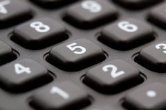 Calculator keyboard macro Stock Photography