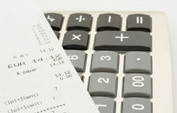 Calculator keyboard Royalty Free Stock Images