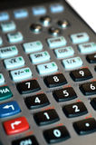 Calculator keypad. Scientific calculator close up with white background Stock Image