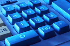 Calculator Keypad. Background of closeup of numbers on calculator keypad Royalty Free Stock Image