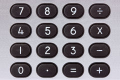 Calculator keypad close-up Royalty Free Stock Photo