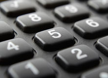 Calculator keypad close up Stock Image