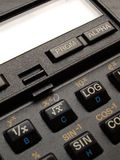 Calculator keys. Detail of a scientific calculator keyboard Royalty Free Stock Images