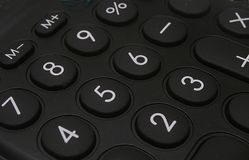 Calculator keys Royalty Free Stock Images