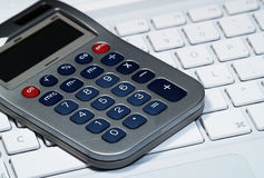 Calculator Laptop Keyboard Royalty Free Stock Photo