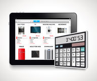 Calculator - on-line shopping Stock Photo