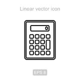 Calculator. Linear vector icon. Icon of the calculator in a linear style Stock Photo