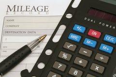 calculator log mileage στοκ εικόνα