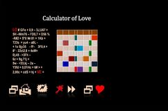 Calculator of love Stock Photos