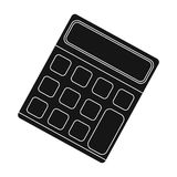 Calculator. Machine to quickly count data. Math .School And Education single icon in black style vector symbol stock. Web illustration Royalty Free Stock Photography