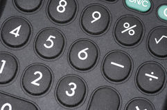Calculator Macro. Macro of calculator numbers and buttons Stock Photo