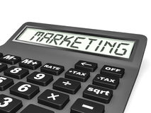 Calculator with MARKETING on display. Royalty Free Stock Images