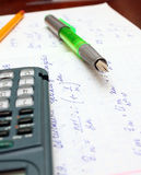 Calculator and math calculation Stock Photos