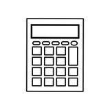 Calculator math device Stock Photo
