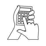 Calculator math device Stock Image