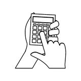 Calculator math device Stock Photos