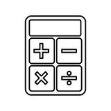 Calculator math  icon Stock Photo
