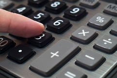 Calculator for mathematical calculations and accounting close-up.  Royalty Free Stock Photos