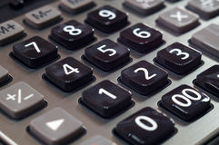 Calculator for mathematical calculations and accounting close-up.  Royalty Free Stock Image