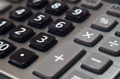 Calculator for mathematical calculations and accounting close-up.  Stock Images