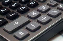 Calculator for mathematical calculations and accounting close-up Stock Photos