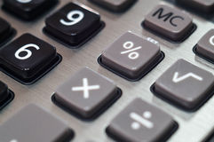 Calculator for mathematical calculations and accounting close-up.  Royalty Free Stock Photography