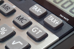 Calculator for mathematical calculations and accounting close-up.  Stock Photo
