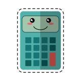 Calculator mathematics accounting cut line Stock Image