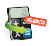 Calculator and mathematics sign illustration Royalty Free Stock Photography